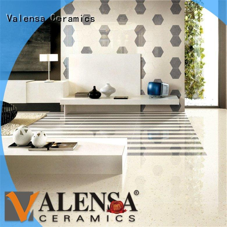Valensa Ceramics durable polished vitrified tiles customized for house