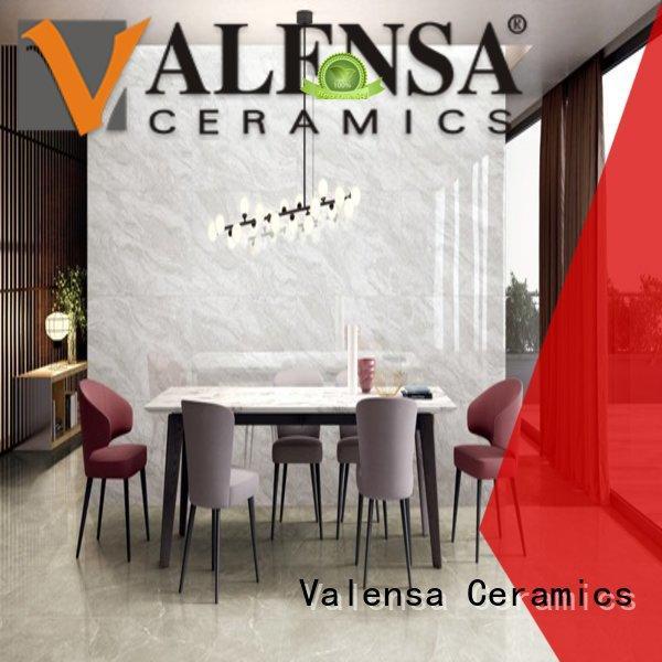 Valensa Ceramics glacier white floor tiles price customized for villas