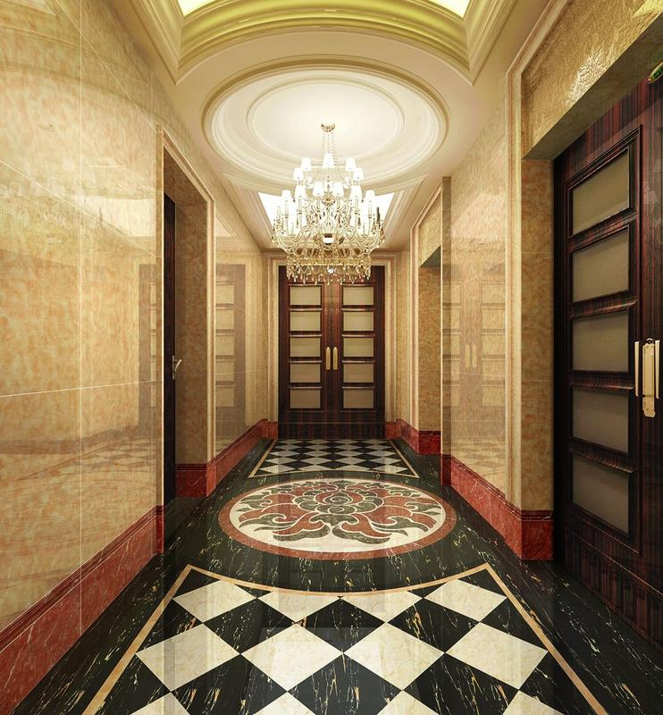 Porcelanato dark color of Marble tiles  Full polished marble tiles      VP6139JL -60x60 80x80 100x100cm