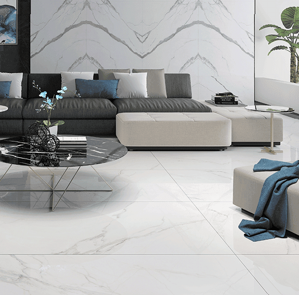 Carrara white Marble tiles  Full polished marble tiles   60x60 80x80cm/24x24' 32x32'