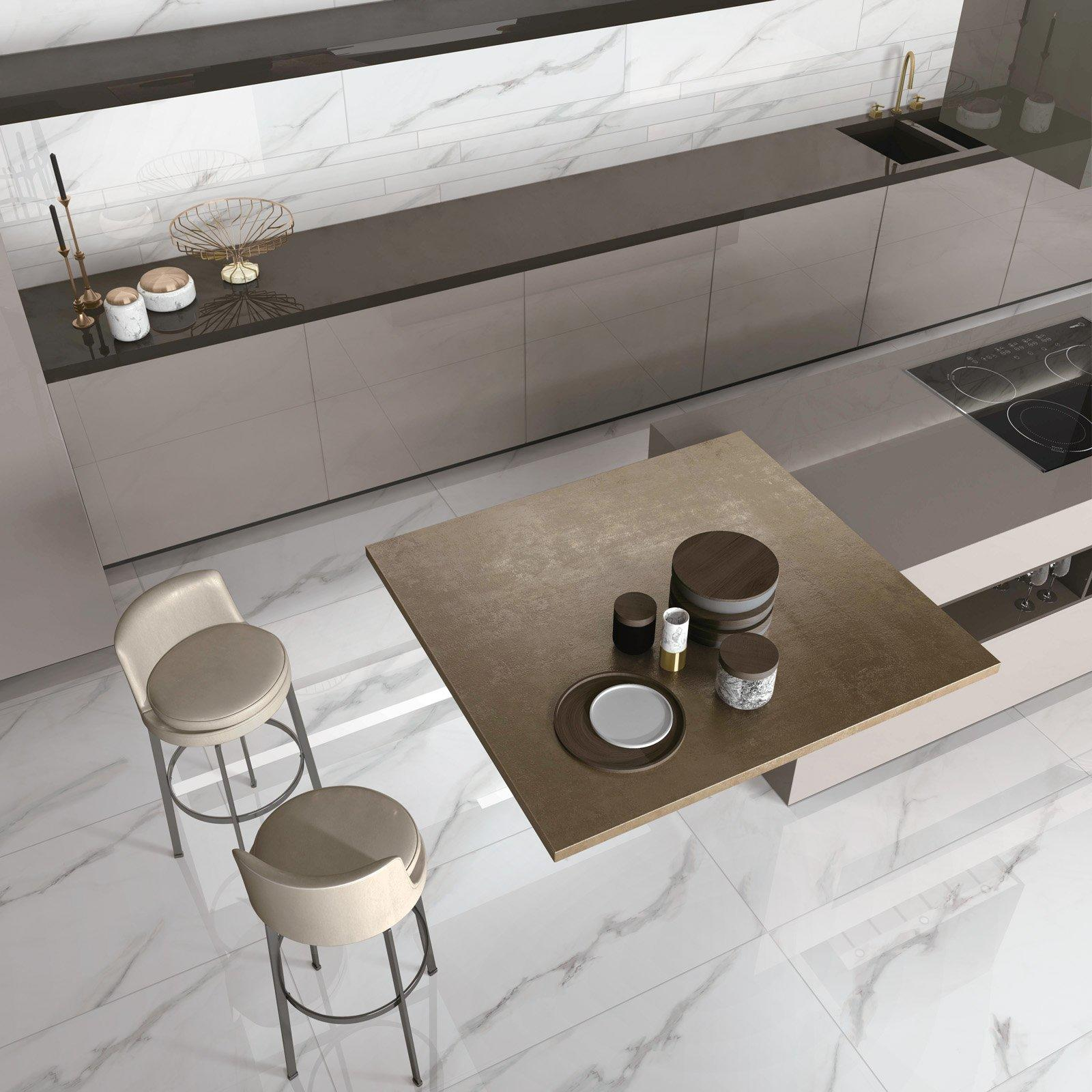 Carrara White Full body ceramic wall tiles VDLS1261314YJT  60x120cm/24x48'