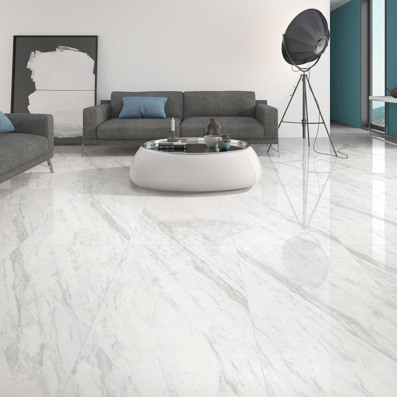 Carrara White Full body porcelain  Marble tiles 60X120     VDLS1261384YJT   60x120cm/24x48'
