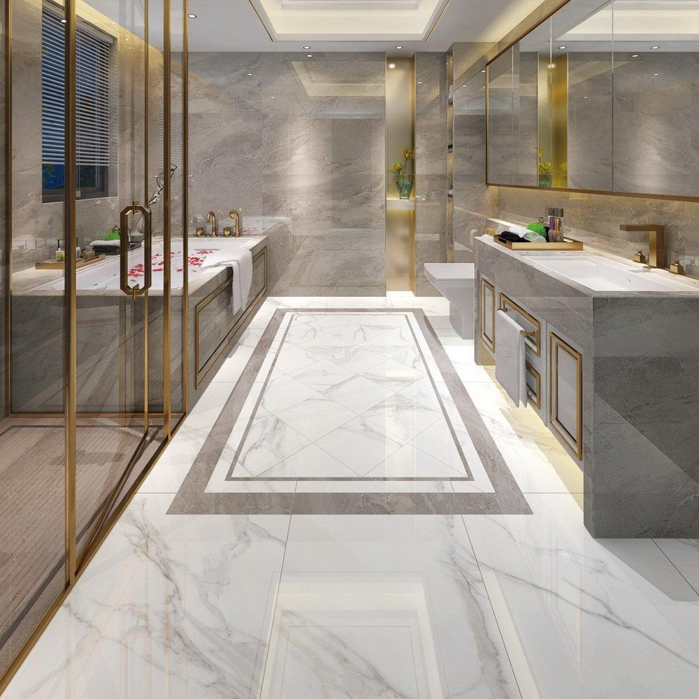 Jazz White Full body Marble porcelain tiles 60X120  VDLS1261406YJT 60x120cm/24x48'