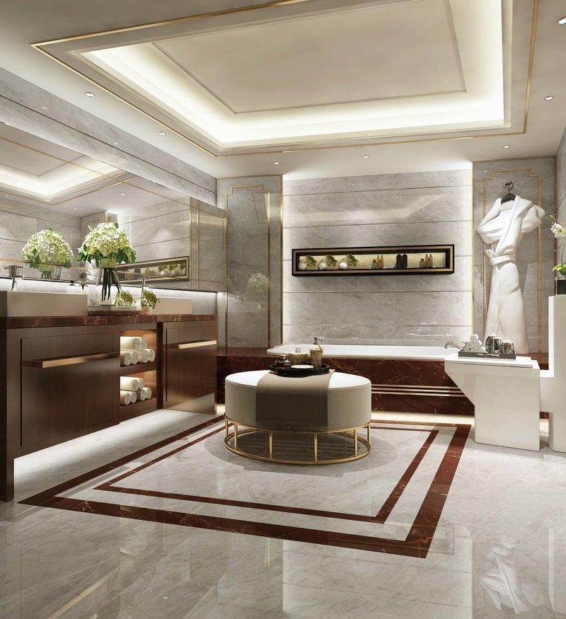Pupes light  Gray  Full body floor Marble tiles 80X80CM   VDLS88633YJ