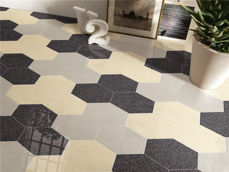 Beige full body of Polished floor  tiles  with Spots   VDBKL013T 60x60cm/24x24'