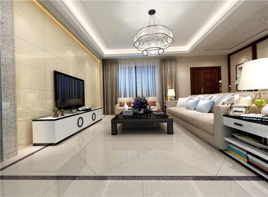 Light gray full body of Polished floor  tiles  Spots series  VDBKL021T 60x60cm/24x24'
