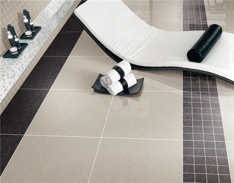 Light gray full body of Polished floor  tiles  Spots series  VDBKL021T 60x60cm/24x24'