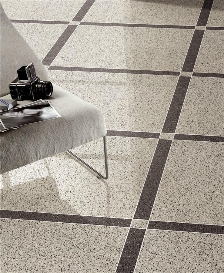 Light gray full body of Polished  tiles  Spots series  VDBKL022T 60x60cm/24x24'