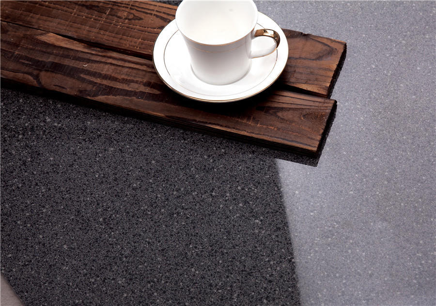 Black floor Polished  tiles  Spots series  VDBKL025T 60x60cm/24x24'