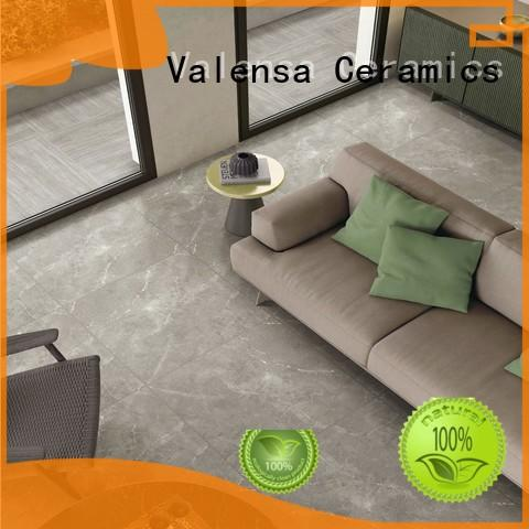 Valensa Ceramics soft matte black floor tile factory for home