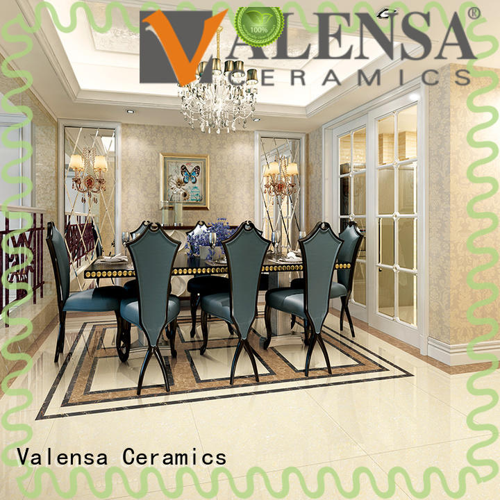 Valensa Ceramics double glossy floor tiles for business for villas
