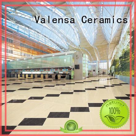 Valensa Ceramics pure white polished porcelain floor tiles suppliers for villas
