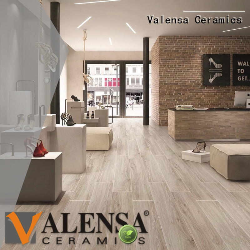 Valensa Ceramics Latest white wood porcelain tile supply for indoor