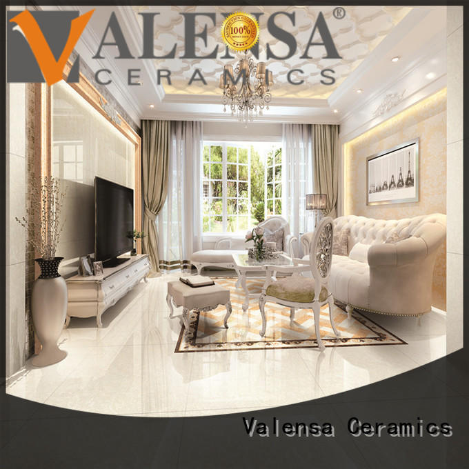 Valensa Ceramics floor high gloss porcelain tile factory for villas