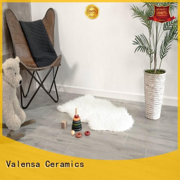 Valensa Ceramics wooden white wood look porcelain tile factory for villas