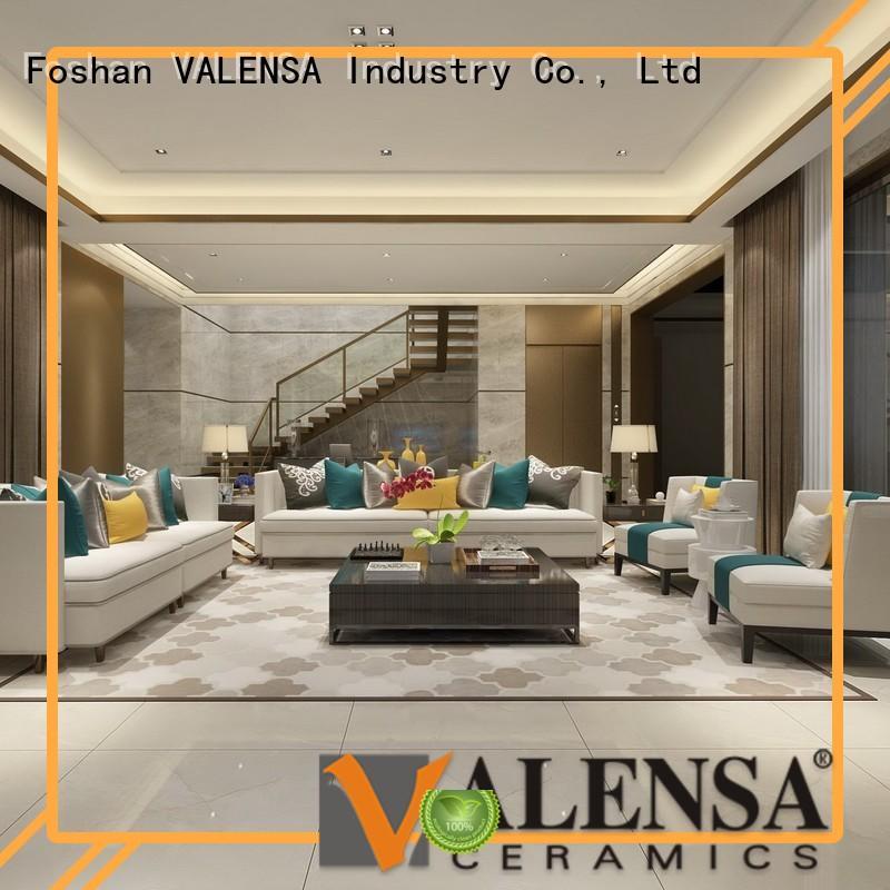 Valensa Ceramics Brand white polished full  decorative