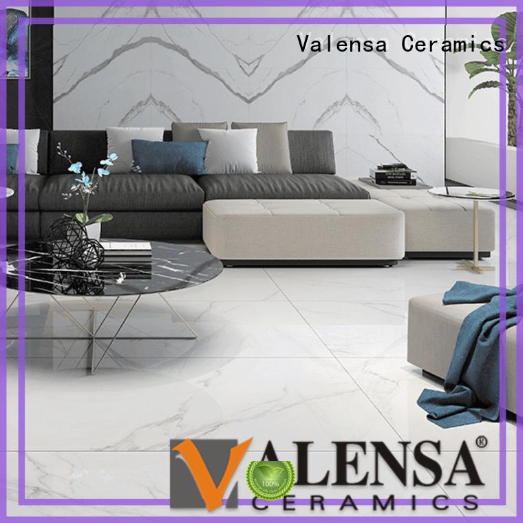 Custom carrara porcelain tile white company for indoor