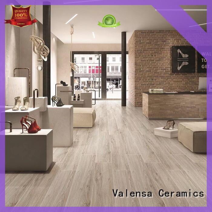 Valensa Ceramics Best porcelain wood tile flooring supply for villas