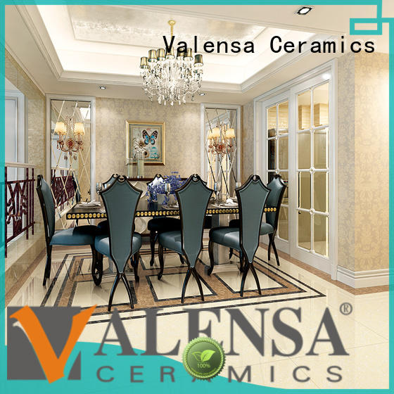 Valensa Ceramics porcelain glossy floor tiles supply for house
